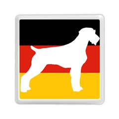 German Wirehaired Pointer Silo On Flag Memory Card Reader (Square)