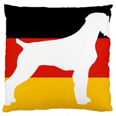 German Wirehaired Pointer Silo On Flag Large Cushion Case (One Side)
