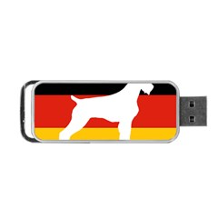 German Wirehaired Pointer Silo On Flag Portable USB Flash (Two Sides)