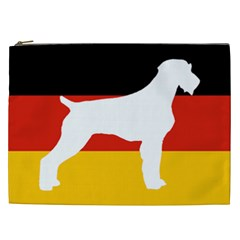 German Wirehaired Pointer Silo On Flag Cosmetic Bag (XXL)
