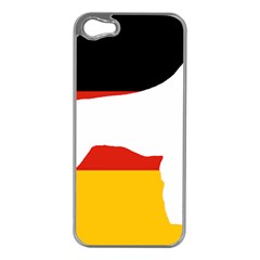 German Wirehaired Pointer Silo On Flag Apple iPhone 5 Case (Silver)