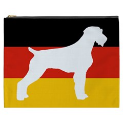 German Wirehaired Pointer Silo On Flag Cosmetic Bag (XXXL)