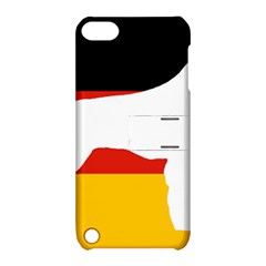 German Wirehaired Pointer Silo On Flag Apple iPod Touch 5 Hardshell Case with Stand