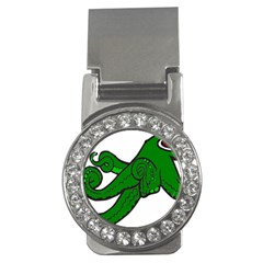 Tentacle Monster Green  Money Clips (CZ)