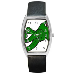 Tentacle Monster Green  Barrel Style Metal Watch