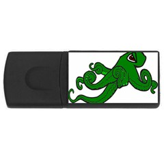 Tentacle Monster Green  USB Flash Drive Rectangular (4 GB)