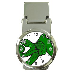 Tentacle Monster Green  Money Clip Watches