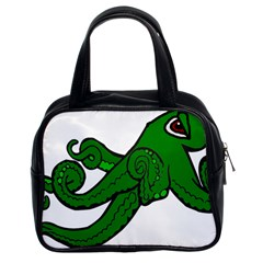 Tentacle Monster Green  Classic Handbags (2 Sides)