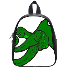 Tentacle Monster Green  School Bags (Small)