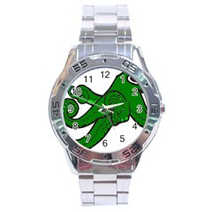 Tentacle Monster Green  Stainless Steel Analogue Watch