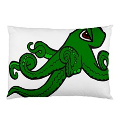 Tentacle Monster Green  Pillow Case (Two Sides)