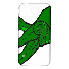 Tentacle Monster Green  Samsung Galaxy S5 Back Case (White)