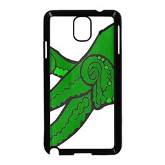Tentacle Monster Green  Samsung Galaxy Note 3 Neo Hardshell Case (Black)