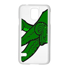 Tentacle Monster Green  Samsung Galaxy S5 Case (White)