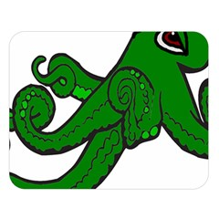 Tentacle Monster Green  Double Sided Flano Blanket (Large)