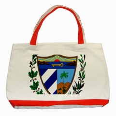 Coat Of Arms Of Cuba Classic Tote Bag (red)