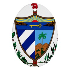 Coat of Arms of Cuba Oval Ornament (Two Sides)