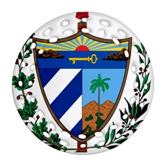 Coat of Arms of Cuba Round Filigree Ornament (Two Sides)