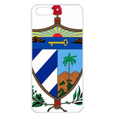 Coat of Arms of Cuba Apple iPhone 5 Seamless Case (White)