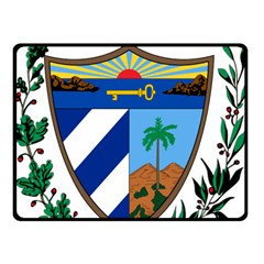 Coat of Arms of Cuba Double Sided Fleece Blanket (Small)