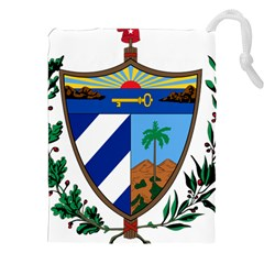 Coat of Arms of Cuba Drawstring Pouches (XXL)