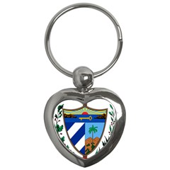 Coat of Arms of Cuba Key Chains (Heart)