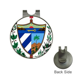Coat of Arms of Cuba Hat Clips with Golf Markers