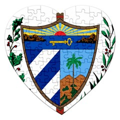 Coat of Arms of Cuba Jigsaw Puzzle (Heart)