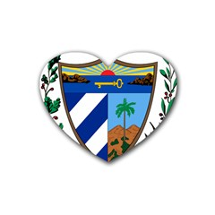 Coat of Arms of Cuba Heart Coaster (4 pack)
