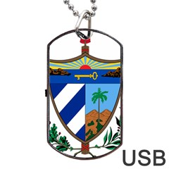 Coat of Arms of Cuba Dog Tag USB Flash (One Side)