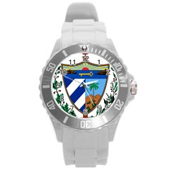 Coat of Arms of Cuba Round Plastic Sport Watch (L)