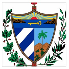 Coat Of Arms Of Cuba Large Satin Scarf (square)