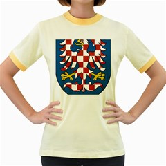 Moravia Coat of Arms  Women s Fitted Ringer T-Shirts