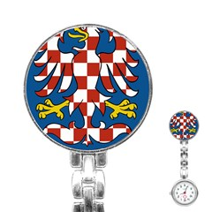 Moravia Coat of Arms  Stainless Steel Nurses Watch