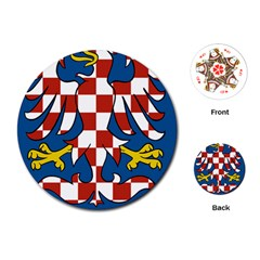 Moravia Coat of Arms  Playing Cards (Round)