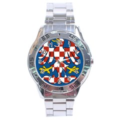 Moravia Coat of Arms  Stainless Steel Analogue Watch