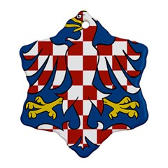 Moravia Coat of Arms  Snowflake Ornament (Two Sides)