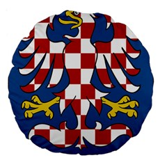 Moravia Coat of Arms  Large 18  Premium Flano Round Cushions
