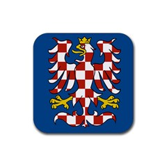 Flag of Moravia  Rubber Square Coaster (4 pack)