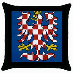 Flag of Moravia  Throw Pillow Case (Black)