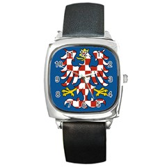 Flag of Moravia  Square Metal Watch