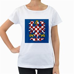 Flag of Moravia  Women s Loose-Fit T-Shirt (White)
