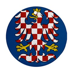 Flag of Moravia  Round Ornament (Two Sides)