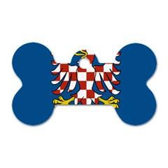 Flag of Moravia  Dog Tag Bone (Two Sides)