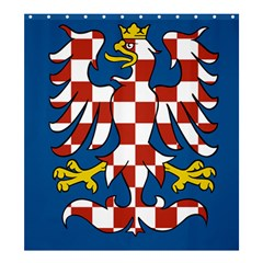 Flag of Moravia  Shower Curtain 66  x 72  (Large)