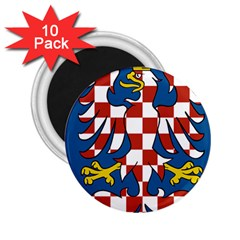 Flag of Moravia 2.25  Magnets (10 pack)