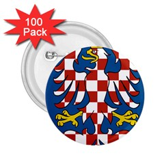 Flag of Moravia 2.25  Buttons (100 pack)