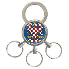 Flag of Moravia 3-Ring Key Chains