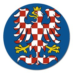 Flag of Moravia Magnet 5  (Round)