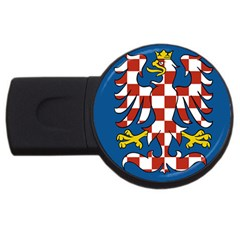 Flag of Moravia USB Flash Drive Round (1 GB)